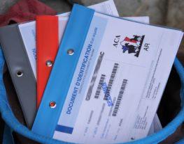 document d'identification dans un panier