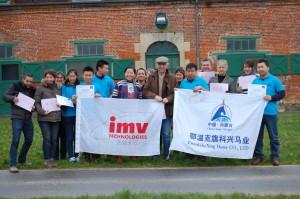 stagiaire mongolien en formation à la jumenterie du Pin