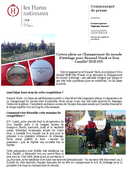 CP 02102014 Carton plein au Championnat du monde pour Renaud et Don Camillo