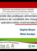Diversité des pratiques alimentaires et facteurs de variabilité des charges opérationnelles d'alimentation