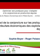 Impact de la conjoncture sur les pratiques et les résultats économiques des exploitations équines