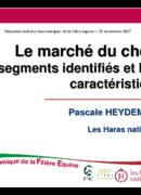 Le marché du cheval : les segments identifiés et leurs caractéristiques