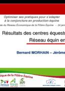 Résultats des centres équestres du Réseau équin en 2010