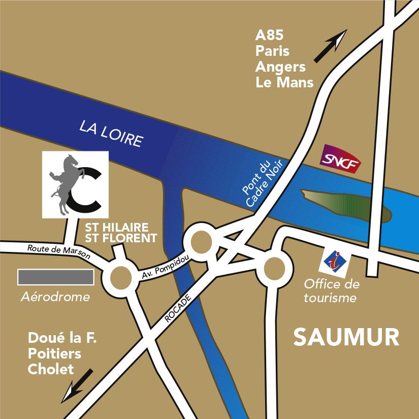 plan d'accès du Cadre noir de saumur