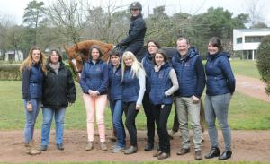 l'équipe d'équi-ressources se retrouve à l'Ecole nationale d'équitation