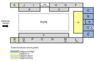 Plan de salle Grand Manège pour les galas du Cadre noir