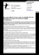 La patrouille de France salue la médaille d