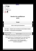 Annexe 1 – Candidature appel à projets MAAF