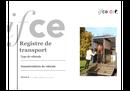 Modèle de registre de transport Ifce