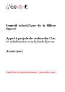 Appel à projets de recherche - année 2017