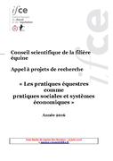 Appel à projets de recherche : « Les pratiques équestres comme pratiques sociales et systèmes économiques »