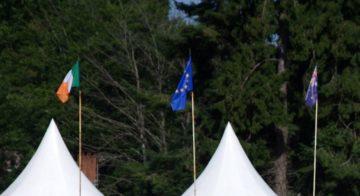 Drapeaux européens, irlandais et anglais