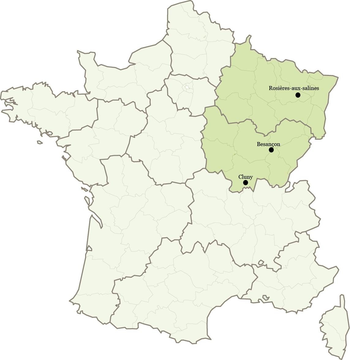 Ifce – Bourgogne Franche Comté, Grand Est