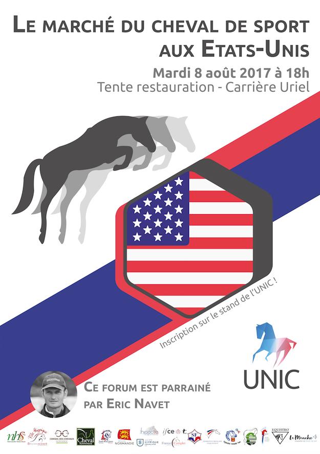 Affiche marché du cheval aux USA