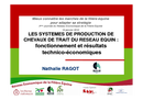 Les systèmes de production de chevaux de trait du réseau équin :  fonctionnement et résultats technico-économiques