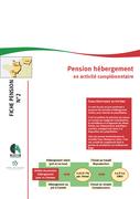 Pension hébergement en activité complémentaire