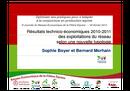 Résultats technico-économiques 2010-2011 des exploitations du réseau selon une nouvelle typologie