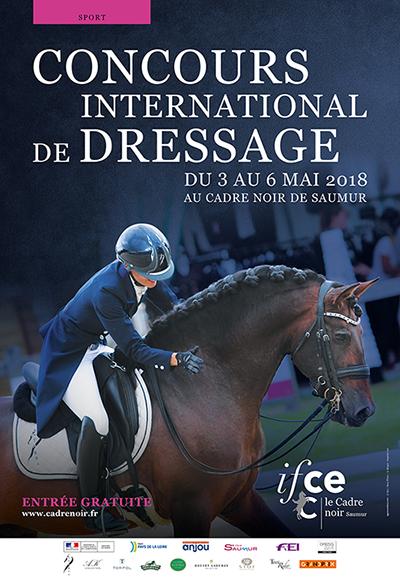 Affiche officielle concours dressage international de Saumur
