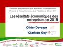 Les résultats économiques des entreprises en 2015