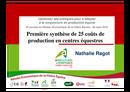 Première synthèse de 25 coûts de productions en centres équestres