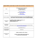 SIRE - Prestations de détermination de génotypes et de contrôle de filiation 06/09/2018
