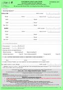 Formulaire DRS verte - version anglaise