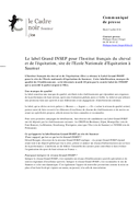 Le label Grand INSEP pour l
