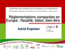 Réglementations comparées en Europe : fiscalité, statut, bien-être