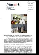 CP 18092015 Inauguration du site miroir de la cryobanque nationale