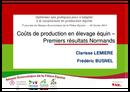 Coûts de production en élevage équin - Premiers résultats Normands