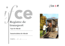 Modèle de registre de transport Ifce