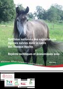 Synthèse nationale des exploitations du réseau équin  : repères techniques et économiques 2010