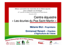 Témoignage centre équestre : les écuries du Pas Saint Martin