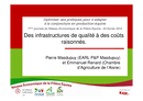 Témoignage : des infrastructures de qualité à des coûts raisonnés