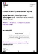 """Appel à projets R&D 2021 : """"Sciences zootechniques et vétérinaires"""""""
