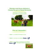 Témoignage : pâturage mixte Bovins allaitants et Chevaux de sport en Basse-Normandie