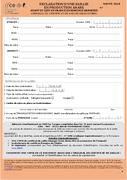Formulaire DRS orange - semence importée Arabe