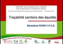 Traçabilité sanitaire des équidés