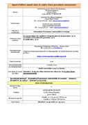 Secrétariat général - Prestations d
